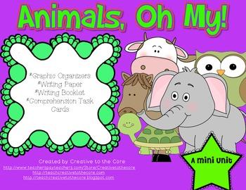 Animals Mini Unit~ Includes Graphic Organizers & Much More!