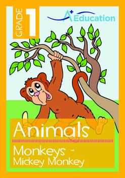 Animals - Monkeys: Mickey Monkey - Grade 1