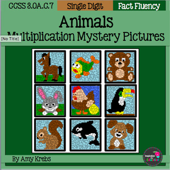 Animals Multiplication Mystery Pictures