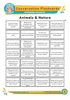 Animals & Nature - Conversation Flashcards