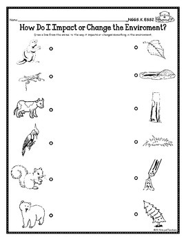 NGSS Kindergarten-ESS 2 & 3: Animals:Needs, Patterns, Habitats & Impact on Earth