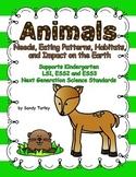 NGSS.K.ESS2-3:Animal Needs, Patterns, Habitats & Impact on Earth/Print & Digital