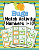 Animals Numbers 1-10 Match Activity Bundle Set 3