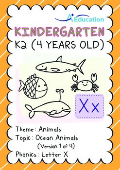 Animals - Ocean Animals (I): Letter X - K2 (4 years old)