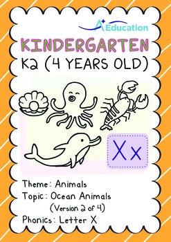 Animals - Ocean Animals (II): Letter X - K2 (4 years old)