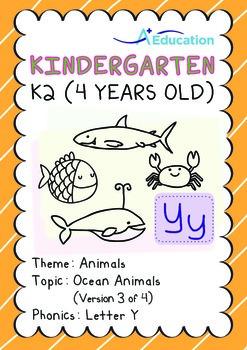 Animals - Ocean Animals (III): Letter Y - K2 (4 years old)