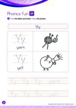 Animals - Ocean Animals (IV): Letter Y - K2 (4 years old)