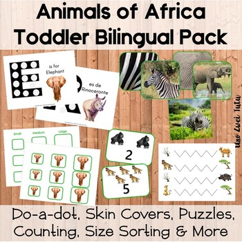 Animals Of Africa Activities Printable Pack Bilingual English Spanish