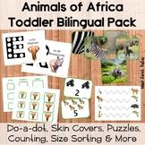 Animals Of Africa Activities Printable Pack Bilingual English Spanish