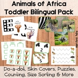 Animals Of Africa Activities Printable Pack Bilingual Engl