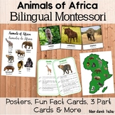 Animals Of Africa Montessorilove Pack 3 Part Cards, Fun Fa