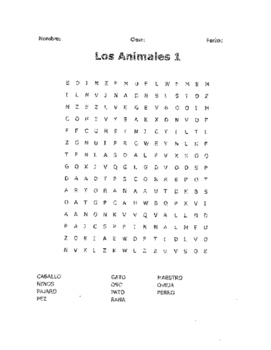Animals Packet in Spanish