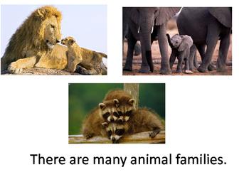 Animals & Parents Unit for Special education