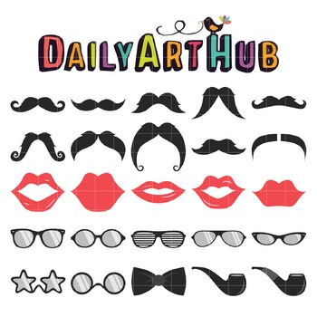 Hipster Pack Clip Art - Great for Art Class Projects!