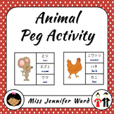 Animals Peg Activity in Japanese