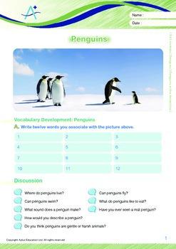 Animals - Penguins: Penguins in the Antarctica - Grade 4