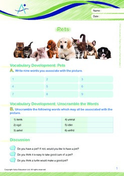 Animals - Pets (II): Kevin's Pet Hamster - Grade 4