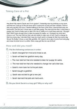 Animals - Pets (II): Taking Care of a Pet - Grade 5