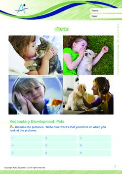 Animals - Pets (III): Many Different Kinds of Pets - Grade 4
