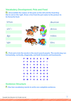 Animals - Pets: What Is My New Pet? - Grade 1
