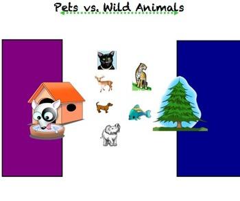 Animals: Pets vs. Wild, Needs, Habitats