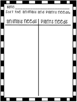 Animals/Plants Needs
