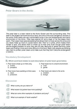 Animals - Polar Bears: Polar Bears in the Arctic - Grade 6