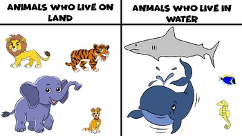 Animals PowerPoint (Animals on Land and Water, Pets and Wild Animals)