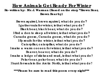 Animals Prepare for Winter Poem