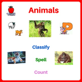 Animals Printable Activity Worksheets - Classify Animals,