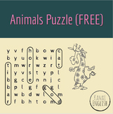 Animals Puzzle (wordsearch and crossword)