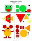 Animals Puzzles with cut and paste Shapes