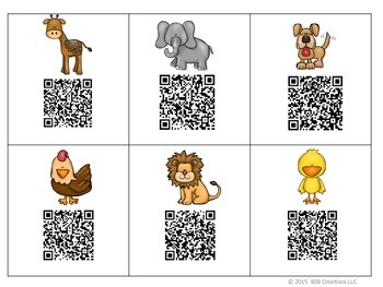 Animals QR Code Sight Word Hunt