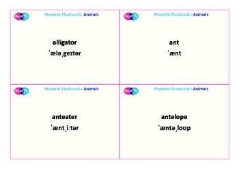 Animals QR code flashcards