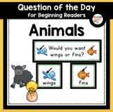 Animals Question of the Day for Preschool and Kindergarten