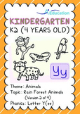Animals - Rain Forest Animals (II): Letter Y(ee) - K2 (4 years old)