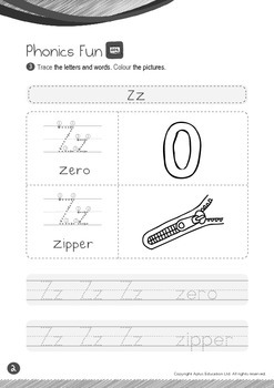 Animals - Rain Forest Animals (III): Letter Z - K2 (4 years old)