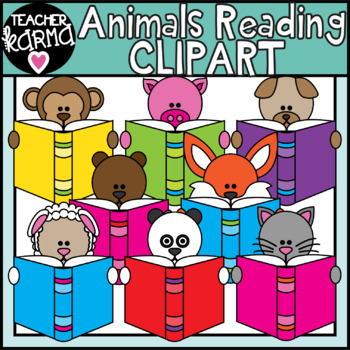 Animals Reading Books Clipart