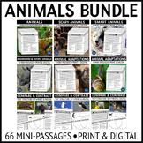 Animals Reading Passages Bundle