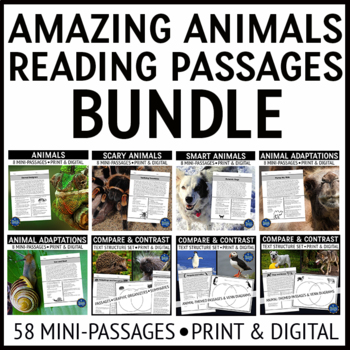 Animals Reading Passages Bundle