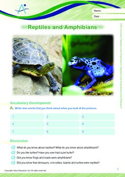 Animals - Reptiles and Amphibians Are Different - Grade 5