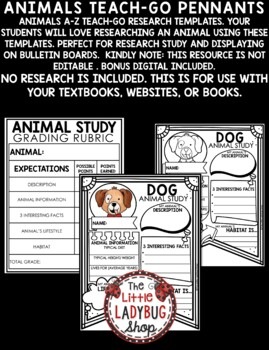 Animals Research Project & Rubric Templates