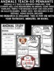 Animals Research Project Template Teach- Go Pennants™ Animal Research Report