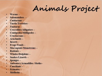 Animals Research Project