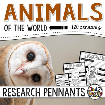 Animals Research Project Pennants