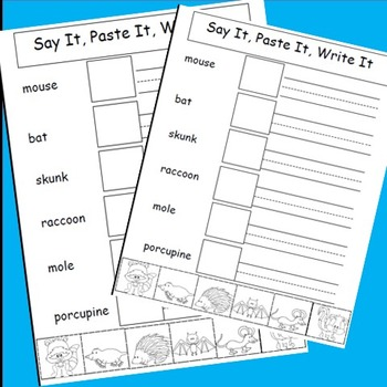 Animals Activities, Cut and Paste, Writing Activities, Great For Animal Unit