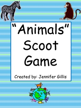 """Animals"" Scoot Game"