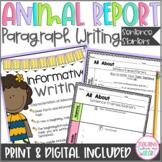 DIGITAL Animal Report Paragraph Sentence Starters & Craft, Informative Writing