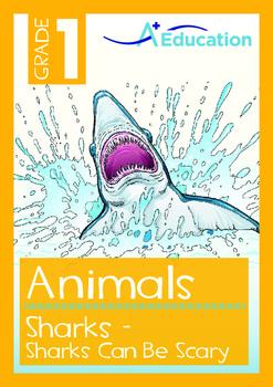 Animals - Sharks: Sharks Can Be Scary - Grade 1