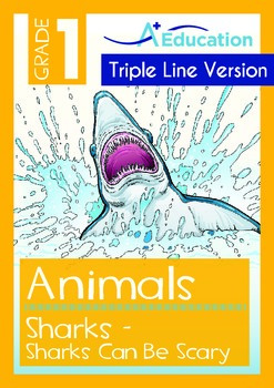 Animals - Sharks (II): Sharks Can Be Scary (with 'Triple-Track Writing Lines')